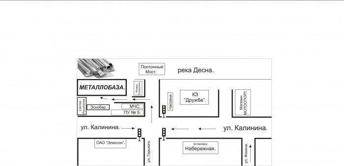 Схема проезда к МТК