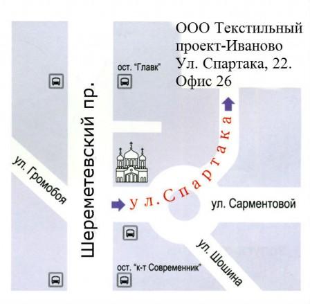 Схема проезда к ТЕКСТИЛЬНЫЙ
